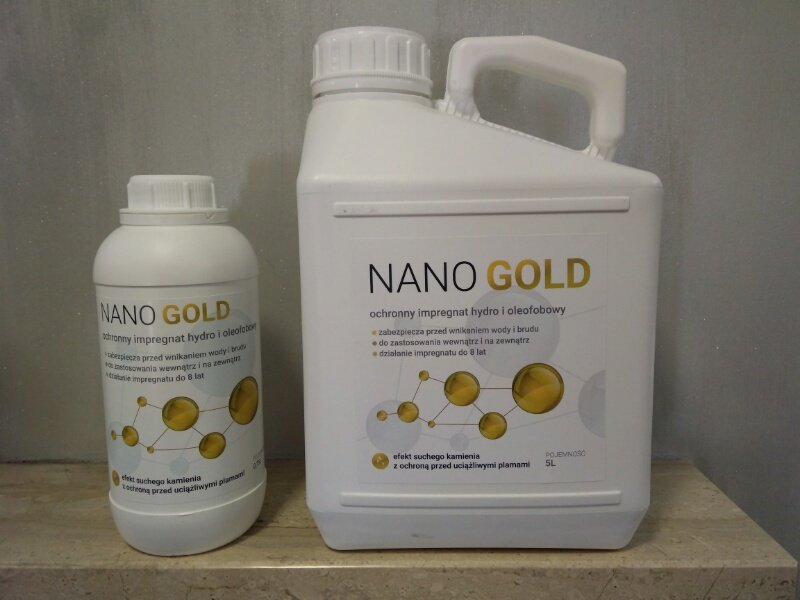 Nano gold - kamień naturalny: impregnacja
